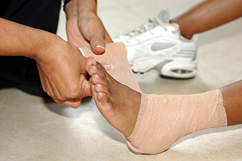 sprained ankle treatment in the Wheeling, IL 60090 and Chicago, IL 60613 areas.